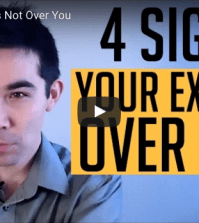 signs your ex is not over you
